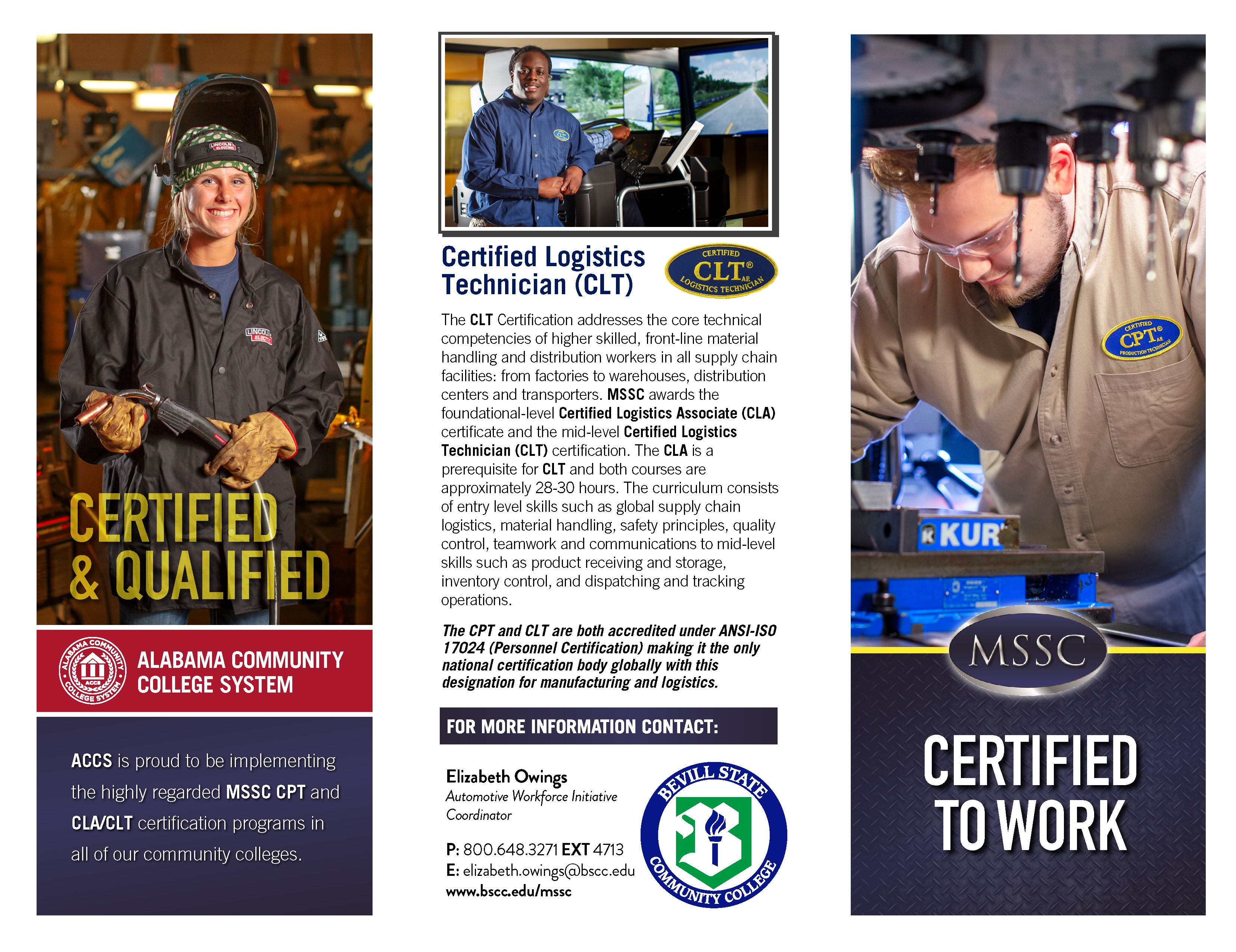 Manufacturing Skill Standards Council Mssc Bevill State